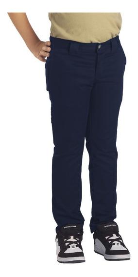 Pantalón Dickies Qp801 Skinny Para Niño Uso Rudo 8 A 20