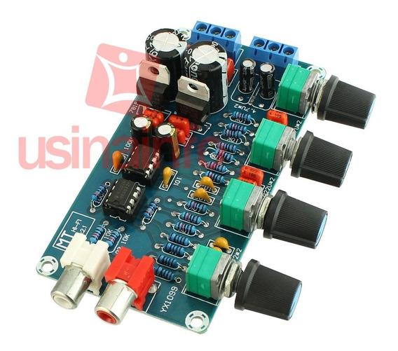 Pré Amplificador Preamp Hi - Fi 10x Ne5532 Estéreo