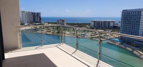 Puerto Cancún Y Marina Condos. Departamento De Lujo Para Estrenar En Renta Y Venta Con Vista Al Mar. 2 Recámaras. Cancún, Quintana Roo