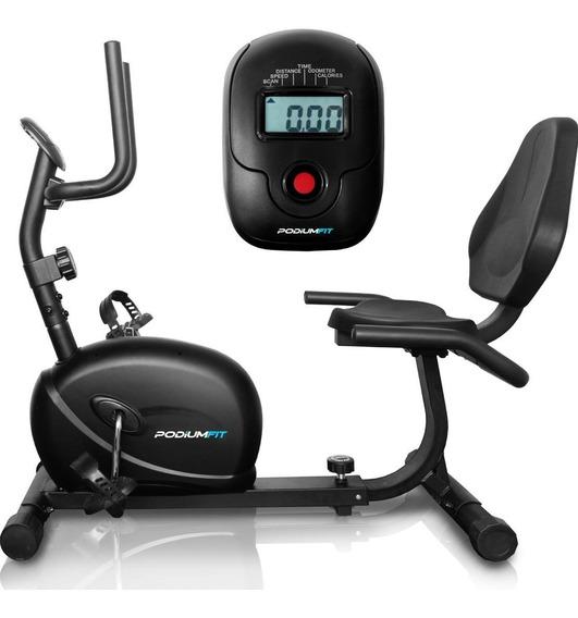 Bicicleta Ergométrica Horizontal Podiumfit H100 - Magnética