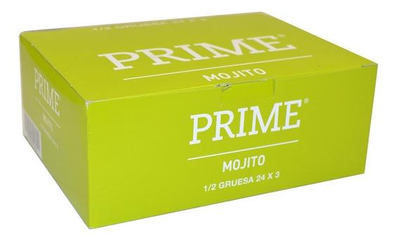 Preservativos Prime Saborizado X72 Unidades Sabor Mojito