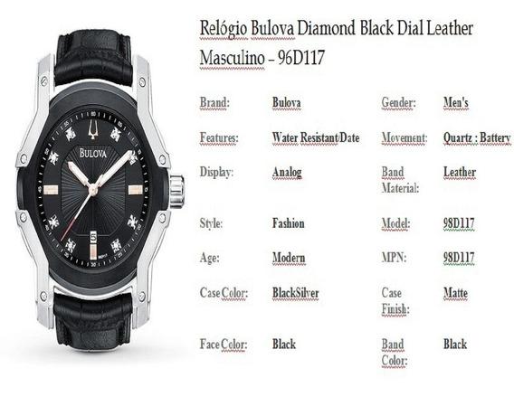 Relógio Importado Original Bulova 98d117