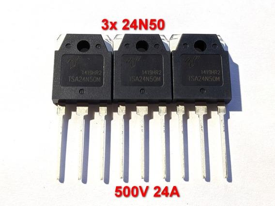 3 Transistor 24n50 24n50f Fqa Fda24n50f Mosfet To3p 500v 24a