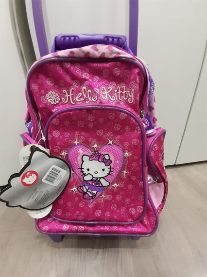 Mochila Infantil Com Carrinho Baby Hello Kitty
