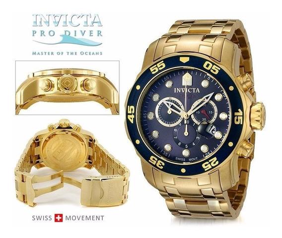 Relógio Invicta Modelo - 0073 Pro Diver Fundo Azul Original