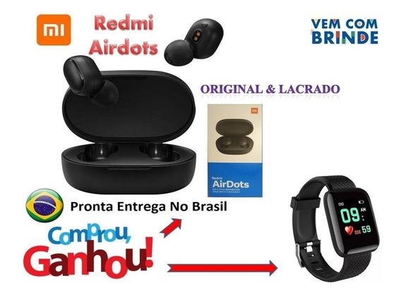 Kit Fone Redmi Airdots Bluetooth Sem Fio + Brinde Smartwatch