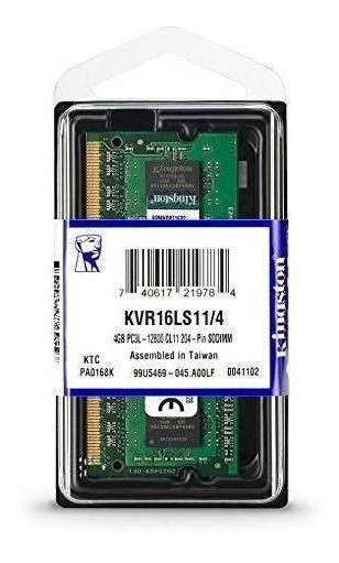 Memoria P/note 4gb Kingston Ddr3 1600mhz Kvr16s11/4