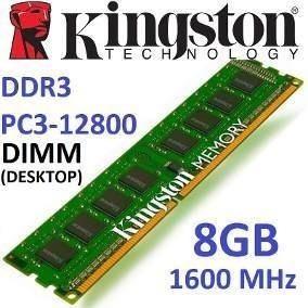 Memoria Ddr3 8gb Kingston 1600mhz Pc3-12800 240 Pines