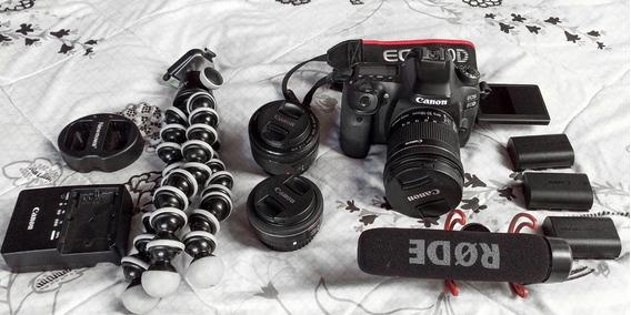 Câmera Canon Dslr Eos 80d + Kit Youtube