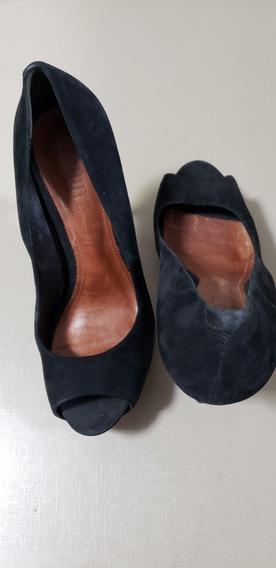 Sapato Salto Agulha Couro Camurça Schutz Sem Uso 37