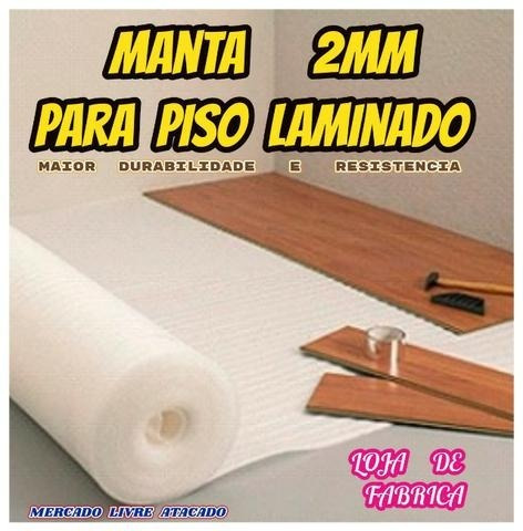 Manta 2mm P/piso Laminado Direto Da Fabrica Kit C/30 Mts² ..