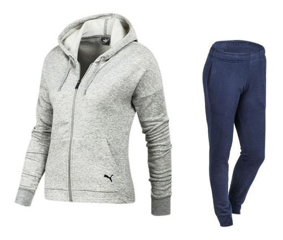 Conjunto Puma Clean Sweat Suit Training Mujer 854100-04