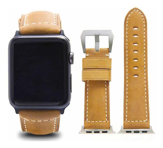 Correa De Piel Genuina Para Apple Watch 42/44mm
