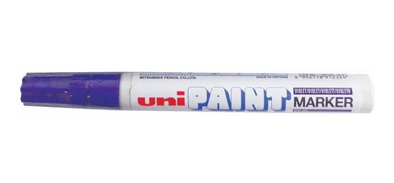 Marcador Unipait Permanente Px20 Violeta Punto Medio Envío