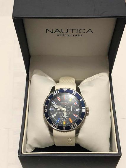 Reloj Nautica Blanco A12629g Original!