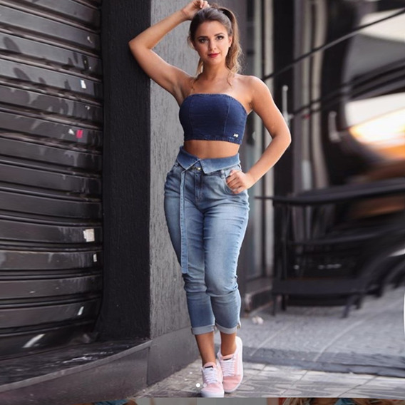 Calça Sol Jeans Premium Cigarret Clochard Original Com Lycra