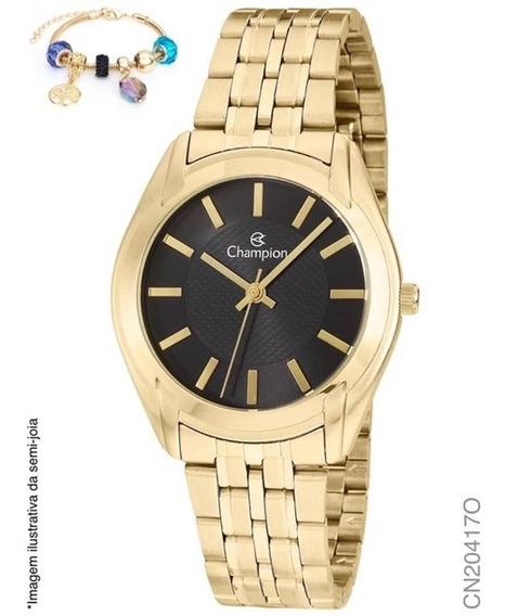 Relógio Champion Analógico Cn20417o Feminino + Semijoia