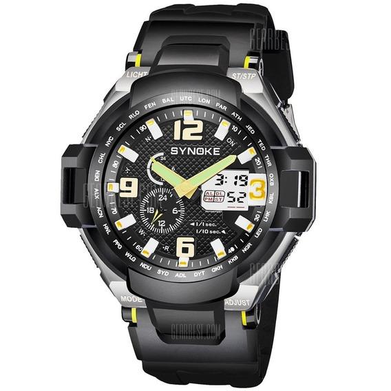 Relógio De Pulso Militar Sinoke + Brinde