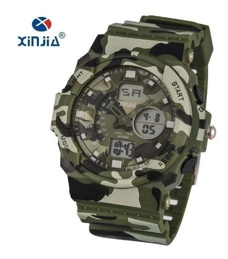 Relógio Masculino Exercito Camuflado Militar Digital Xinjia