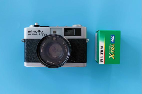Minolta Hi-matic 7sii 35mm Rangefinder Revisada Linda