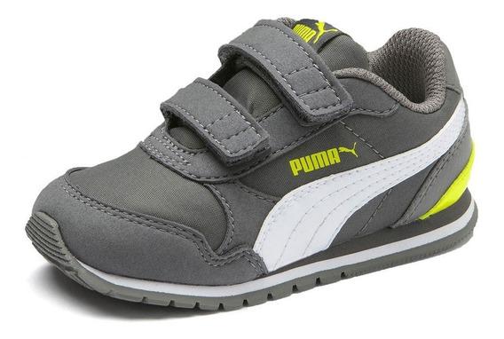 Zapatilla Puma St Runner Versión 2 Abrojo Infantil