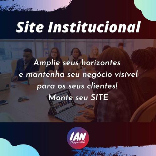 Imagem 1 de 1 de Site Institucional Para Empresas