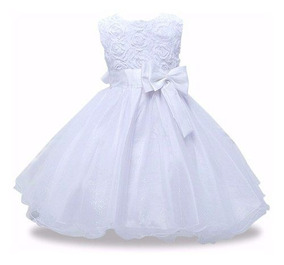 c689d91df72 Vestido Infantil Crianca Festa Casamento Azul - Vestidos Branco ...