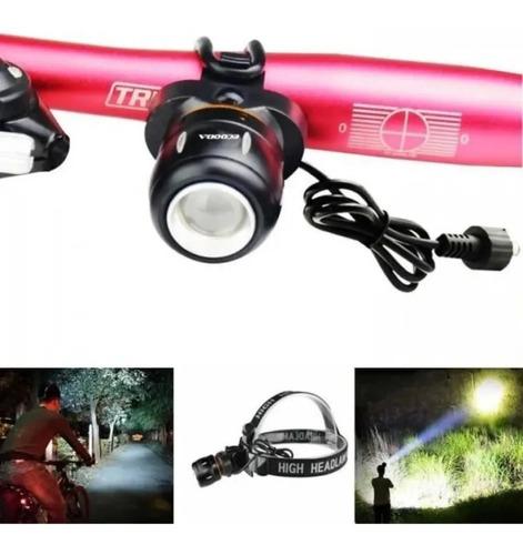 Farol Lanterna De Cabeça T6 Led Bike Bicicletacaça Pescazoom