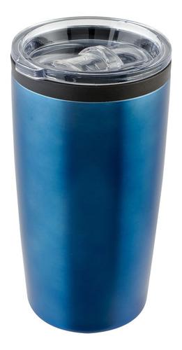 Imagen 1 de 2 de Vaso Térmico Color Acero Inox. 540 Ml Válvula Antiderrames