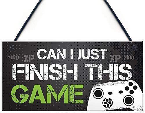 Imagen 1 de 8 de Muestra Divertida Gamer Placa Regalo Para Juego Para La Puer