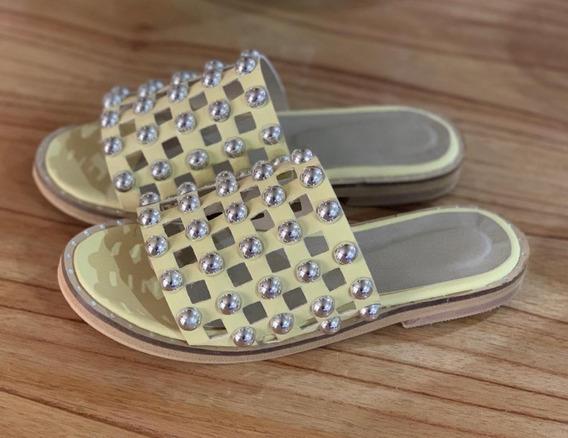 Sandalias Mujer Chatitas Tachas