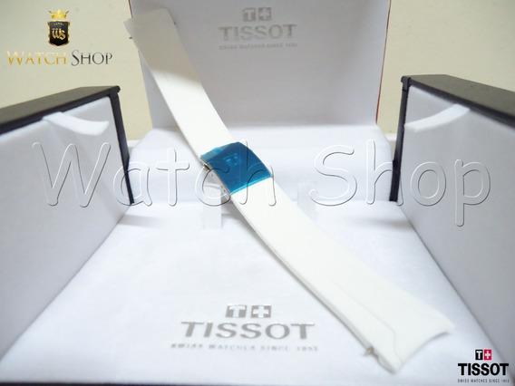 Pulseira De Borracha Tissot Veloci-t T024417a 22mm Branca