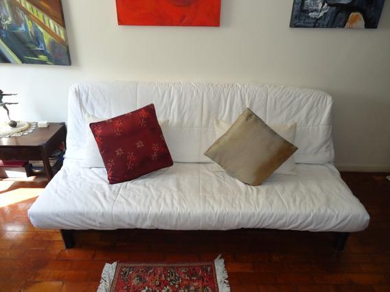 Sofá Branco De 3 Lugares, Em Bom Estado, Da Tok & Stok