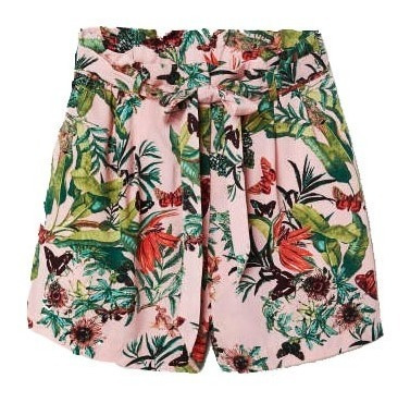 Shorts/falda H&m Rosa Tropical Ropa Mujer Skort Urban Beach
