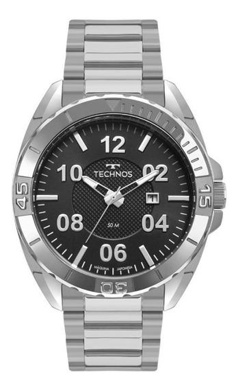 Relógio Technos Masculino Todo Em Aço Inoxidável 2117lbm/1p