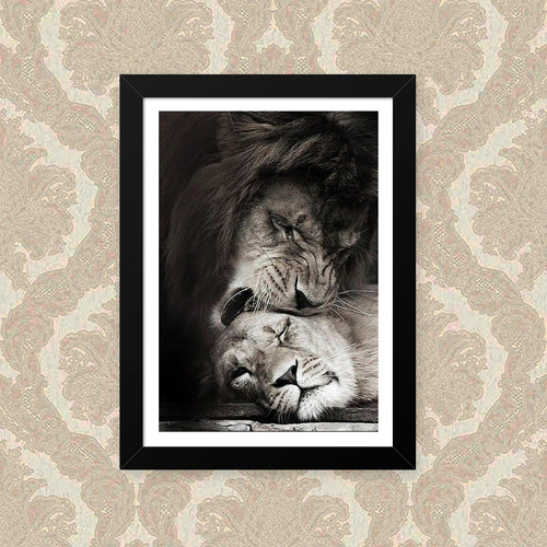 Quadro Lion Love 23x33cm