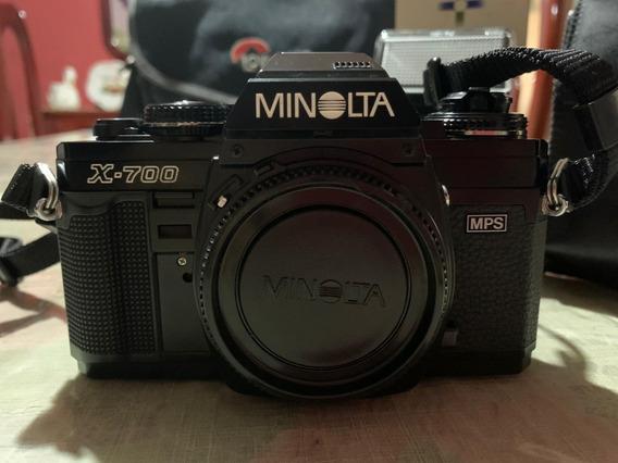 Câmera Fotográfica Antiga Minolta X-700 Com Flash Auto 280px