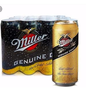 Cerveza Miller Lata 473 Pack 24 Unidades