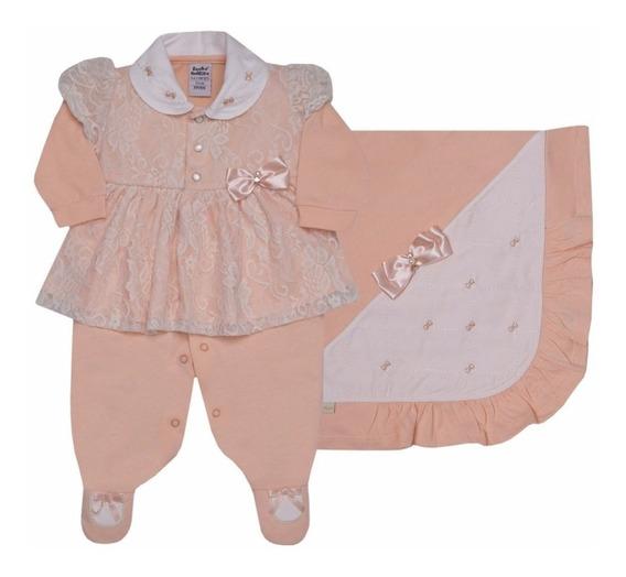 Saída Maternidade Luxo Renda Kit Income Sonho Magico