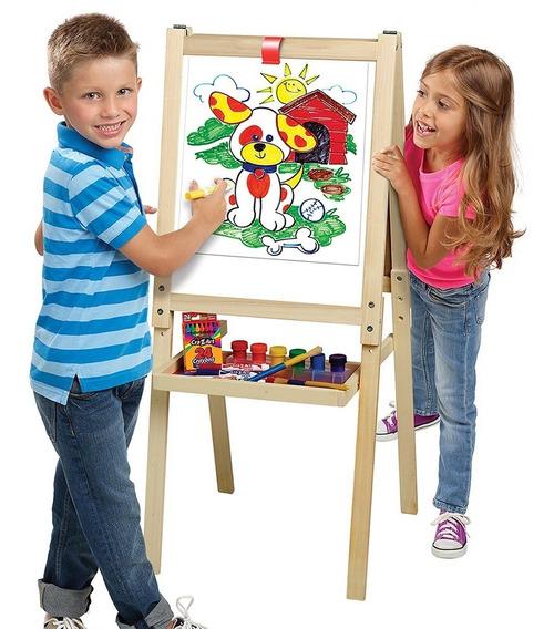 Pizarron Caballete De Madera Infantil 2 En 1 Cra Z Art
