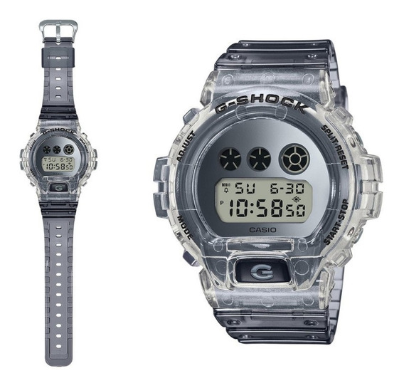 Relogio Casio G-shock Dw-6900sk Transparente Dw-6900 Em 12x