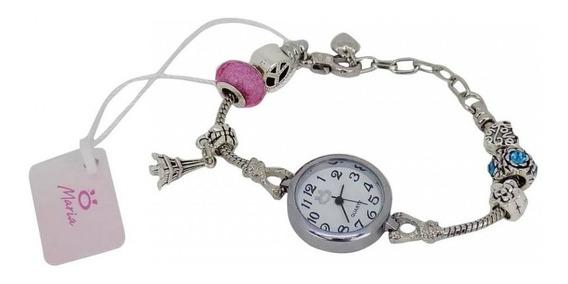 Relógio Feminino Quartz Aço Pulseira Ajustável - Tr1p