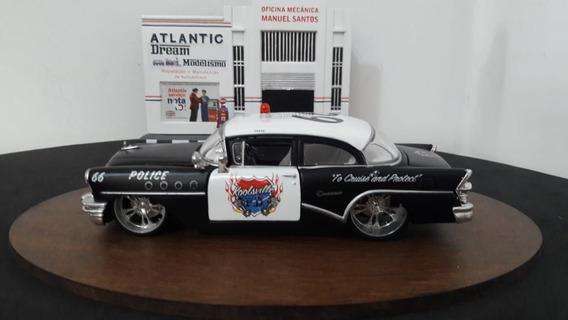 Mini Escala 1/24 Maisto - 1955 Buick Century Police Maisto