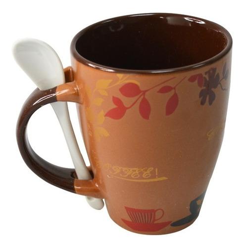 Tazas De Ceramica C/cuchara De 250 Ml.