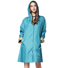 Atractivo Rompevientos Estilo Abrigo Para Mujer Verde Aqua