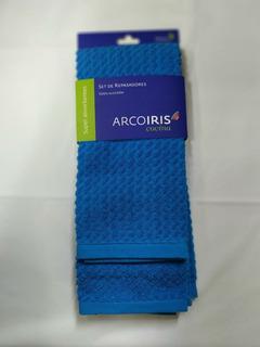 Set De Repasadores Arco Iris Pack X 2 44x70cm 100% Algodón