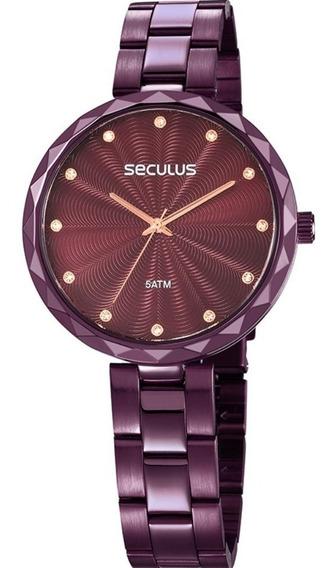 Relógio Seculus Feminino 77039lpskfs2