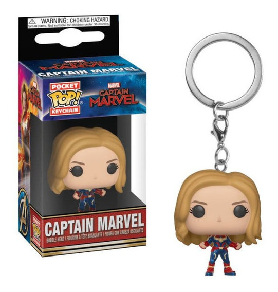 Llavero Funko Pop Capitana Marvel Sin Mascara Pocket Juguete