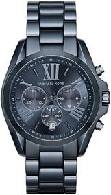 Relógio Michael Kors Masculino Bradshaw Azul Mk6248/4an