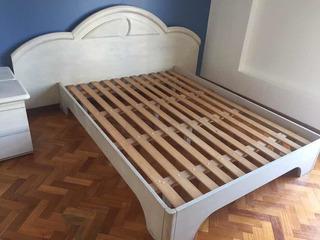 Juego Dormitorio Patinado Completo 2 Plazas